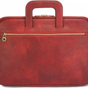 Δερμάτινος Χαρτοφύλακας Jour Firenze Leather 7550 Σκούρο Κόκκινο