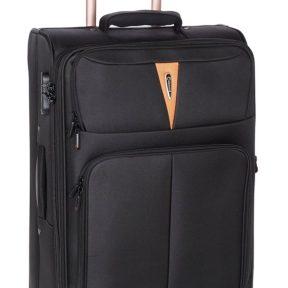 Βαλίτσα Μεσαία με 4 Ρόδες και Επέκταση Diplomat ZC 6101-M Μαύρο