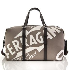 4 ξεχωριστές ανδρικές Weekend Bags από το Salvatore Ferragamo.